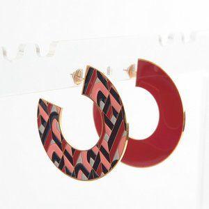 Henri Bendel Enamel Geometric Shape Earrings